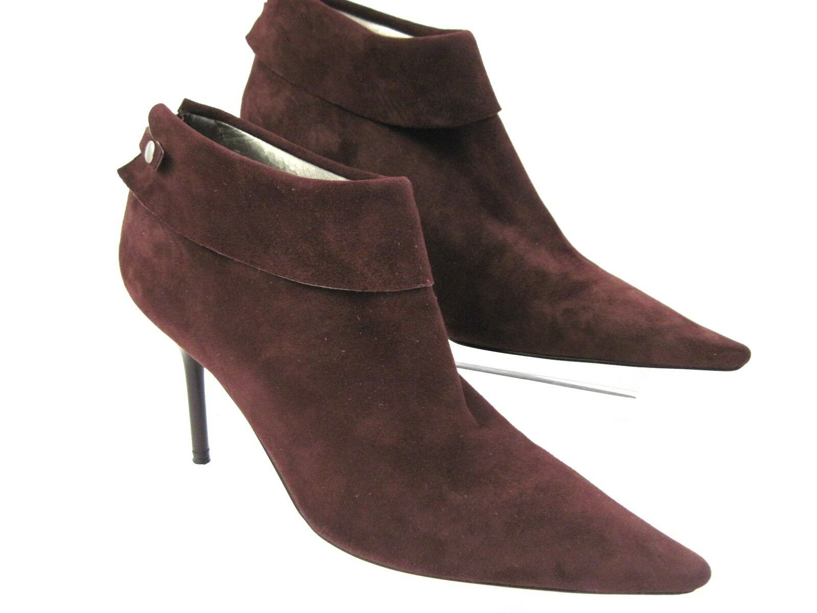 BCBGirls Brown Suede Sexy Litchy Ankle Booties Limited Edition Size 5 1 2 B