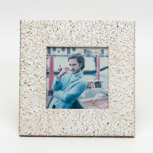 Cornice portafoto in legno per foto fotografia shabby effetto pietra 15X15 cm