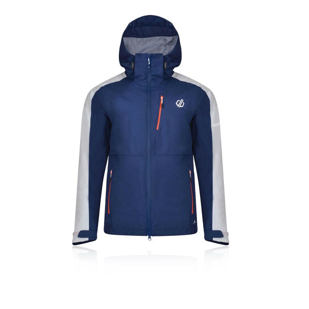 Dare 2b Herren Diluent Waterproof Jacket Top Blau Sport Draußen Full Zip