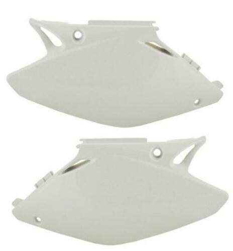 Polisport Side Number Plates Panels Rear White Suzuki RM125 RM250 1996-2000