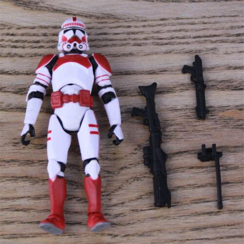"3.75/"" Star Wars  shock trooper red white  Clone Trooper Loose Action Figure"