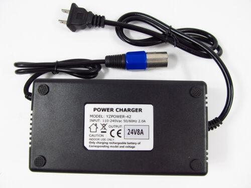 for Power Wheelchair Battery Charger 24V 8 Amp Model 24V 8A