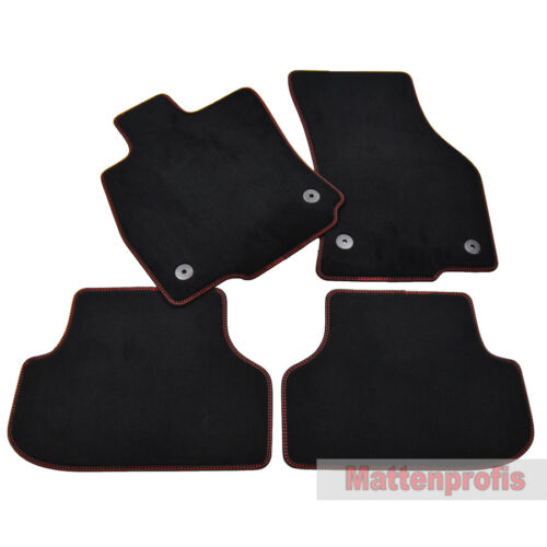 ro-ro Velour Fußmatten Doppelnaht für Seat Leon III FR 5F 5-Türer ab Bj 2012