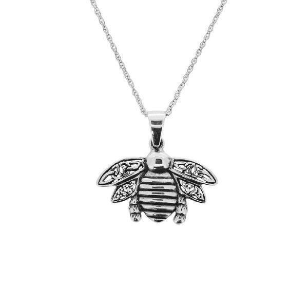 Outlander Inspired Celtique Bee Pendentif en silver