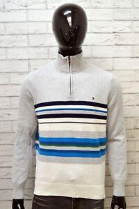 TOMMY-HILFIGER-Uomo-Taglia-L-Maglione-Pullover-Sweater-Man-Cotone-Manica-Lunga