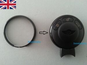 Black-Key-Fob-Ring-Trim-for-MINI-Cooper-S-ONE-Countryman-Clubman-Coupe-Roadster