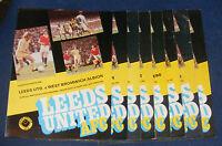 LEEDS UNITED HOME PROGRAMMES 1977-1978