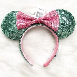 NEW Disney Parks Minnie Mouse Sequin Bow Ears Imagination Pink Headband 2019 New