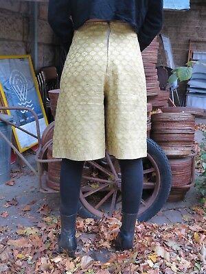 Culottes Pantaloni Gonna Pantaloni Gonna Pieghe Pantaloni 70er True Vintage 70s Trousers Oro-mostra Il Titolo Originale