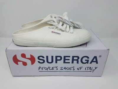 Clothing, Shoes & Accessories Glorious New Women's Superga For J Crew 2288 Vcotw Slip On White Mule Sneakers Shoes Meticulous Dyeing Processes Women's Shoes