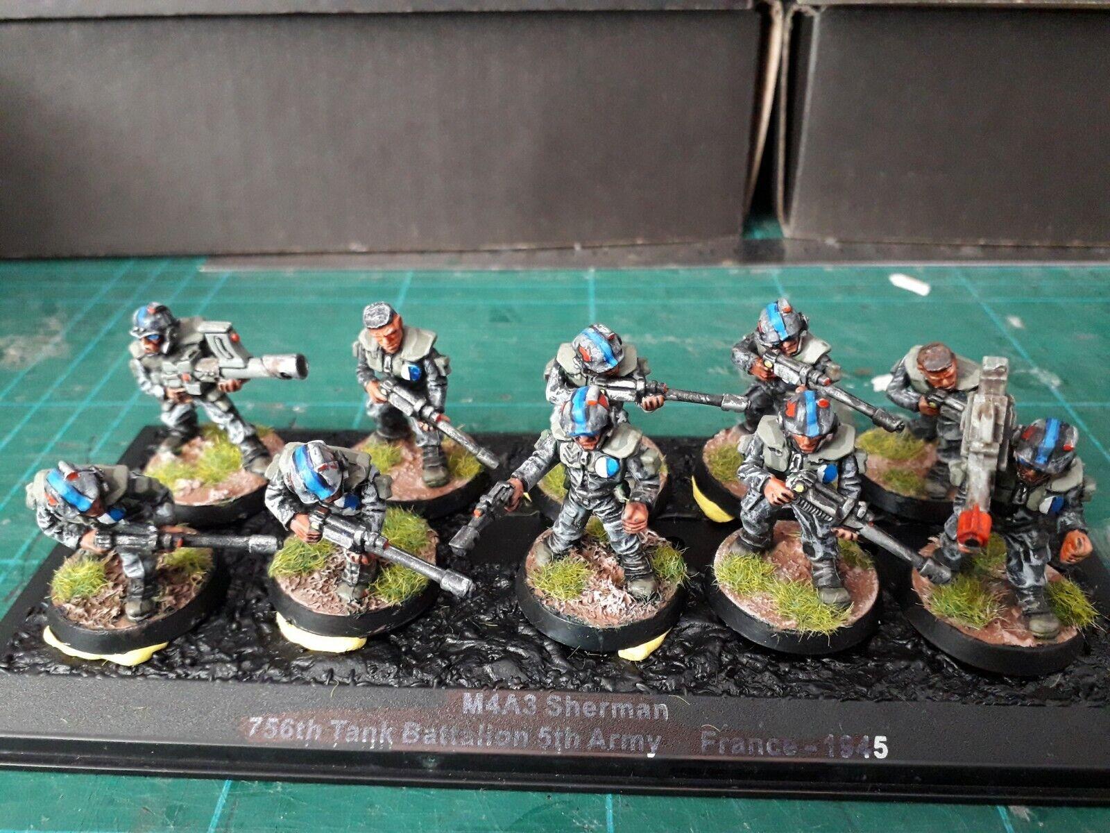Rogue Trader Tactical Squad bien pintados Guardia Imperial. (unidad 1).