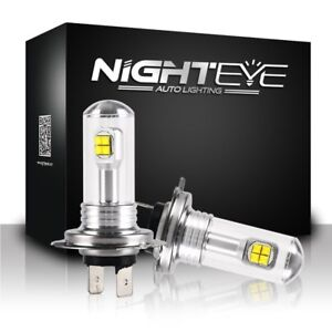 Nighteye-H7-160W-LED-Fog-Light-Bulbs-Car-Driving-Lamp-DRL-6000K-White-High-Power
