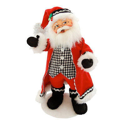 "CLASSY SANTA 9"" Christmas Display Poseable Figure Decoration Annalee 2014 NEW!"