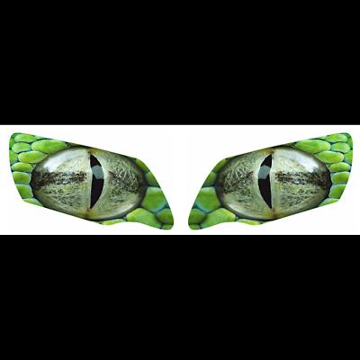 Honda Pioneer 500 /& 700 /& 1000 Headlight Graphics Green Reptile Eye Perforated