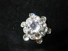 Kramer of New York Signed Vintage Pin Brooch Star Rhinestone Crystal Antique