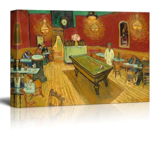 12x18 The Night Cafe by Van Gogh Giclee Canvas Prints Wrapped Gallery Wall Art