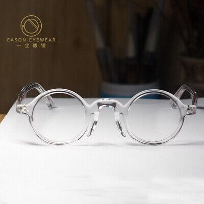 Round Retro John Lennon Eyeglasses Mens Crystal Clear Acetate Rx Circle Glasses Ebay