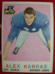 1959-TOPPS-FOOTBALL-ALEX-KARRAS-103-DETROIT-LIONS-MAGIC-ANSWER-NOT-RUBBED
