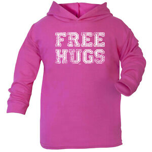 Sensible Funny Baby Infants Cotton Hoodie Hoody Free Hugs Distressed Fashionable Patterns Sweaters