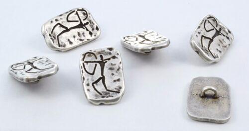 petroglyphs buttons 6 bottoni in metallo INCISIONI RUPESTRI