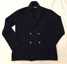 Ralph Lauren Purple Label Navy cashmere Knitted Blazer Jacket Sport Coat SZ L