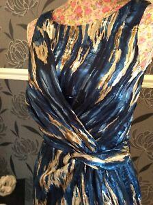 Holiday Bnwt Dress Lille Gold Blue Size Monsoon 153269472009 8 Wxq0wBYxC