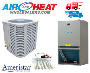 Details about 2 Ton 14 SEER Ameristar Condensor w/ TMM5 Front Return Wall  Mount Air Handler