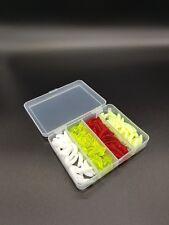 Bienen Maden Mais Rot Wurm Würmer Mückenlarven Set 160//St Box Gummi künstlich