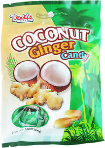 Details about Dandy's Coconut Ginger Candy Dandys Hard Candy 3 52oz
