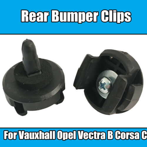 2x For Vauxhall Opel Rear Bumper Clips Vectra B Corsa C Black Plastic 1406469