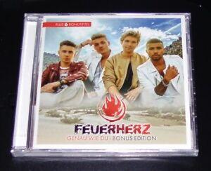 FEUERHERZ-GENAU-WIE-DU-BONUS-EDITION-CD-SCHNELLER-VERSAND-NEU-amp-OVP