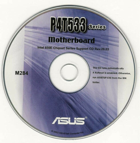ASUS P4T533 series  Motherboard Drivers Install  M284