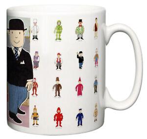 Dirty Fingers Mug, Mr Benn Classic Animated TV Show Retro The Shopkeeper Gift
