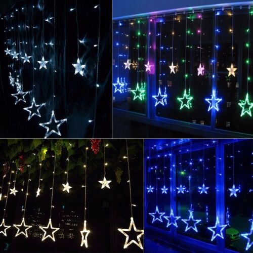 138 LED Star Twinkle Christmas Display Party Wedding Curtain Window Fairy Light