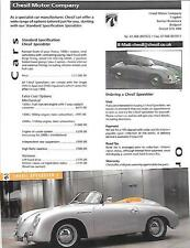 CHESIL 356 PORSCHE SPEEDSTER 2 SALES 'BROCHURE' AND SHEETS  EARLY 2000's