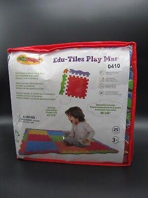 """Edu-tiles Play Mat 12""""x12"""" Tiles 40""""x40"""" Assembled Edu-shape Toys & Hobbies d22-410 Blocks, Tiles & Mats"""