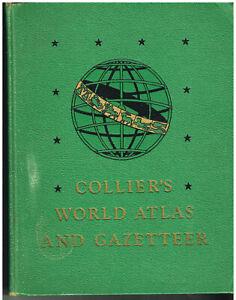 Collier-039-s-World-Atlas-amp-Gazetteer-1949-Vintage-Book