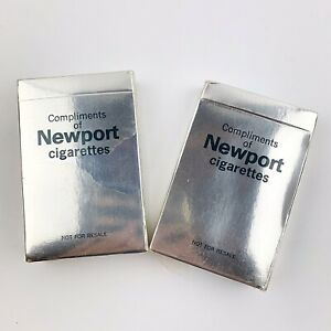 Vtg Lot Of 2 Newport Lorillard Cigarette Playing Cards New Sealed In Package