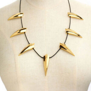 e658e28291159 US! Black Panther Gold Necklace Wakanda King T'Challa Cosplay ...
