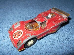 "VINTAGE TOOTSIE TOY RED FERRARI 4"" DIECAST CAR - MADE IN USA"