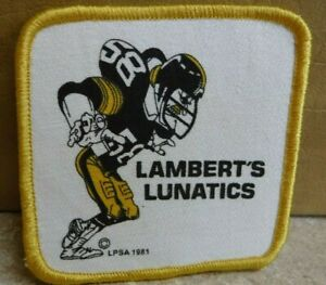 RARE-PITTSBURGH-STEELERS-JACK-LAMBERT-LAMBERTS-LUNATICS-PATCH-1981