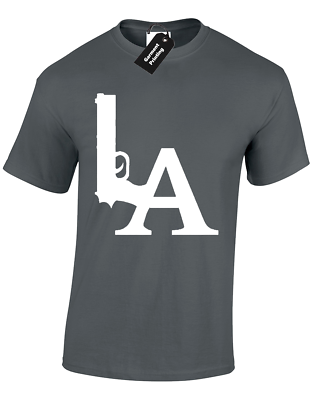 LA GUN DESIGN LADIES T SHIRT RAIDERS OAKLAND AMERICA DRE ICE GIFT