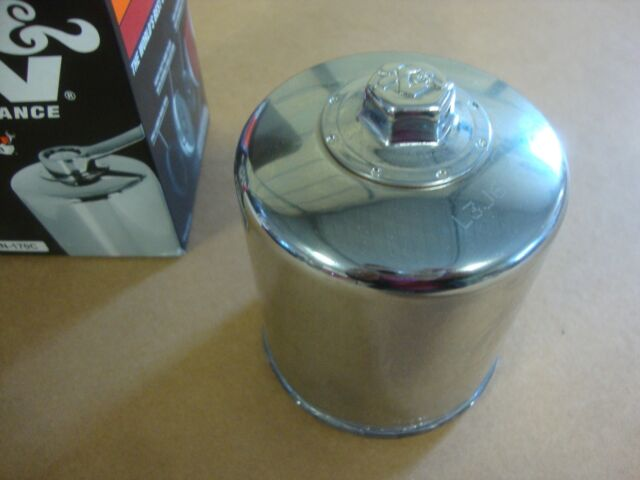 Performance Chrome Oil Filter K&N Engineering Kn-170c Harley