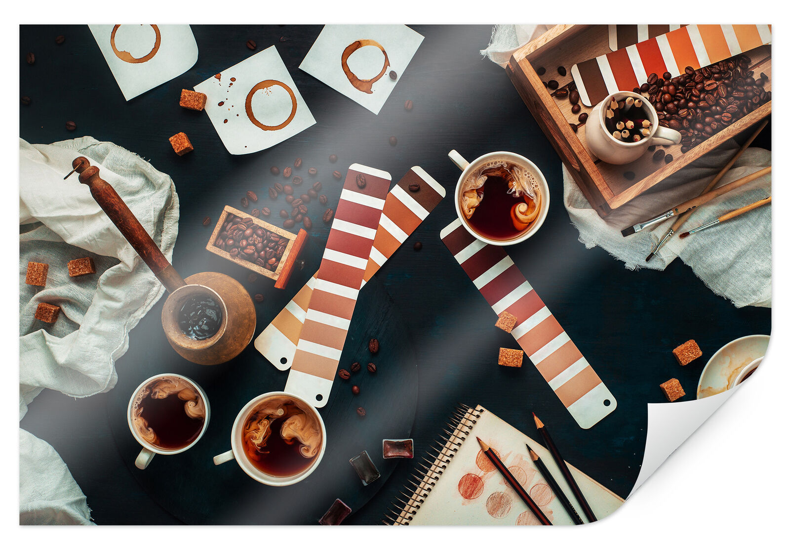 POSTER Belenko-Shades of coffee Muro Immagine Decorazione Carta speciale FSC