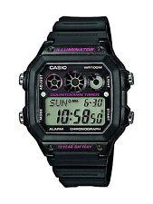 Casio Digital Chronograph Countdown Timer Watch, Black
