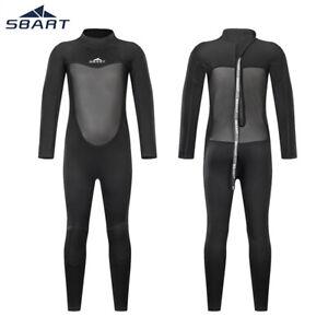 2mm-Boys-Girls-Kids-Steamer-Wetsuit-Back-Zip-Long-Sleeve-Fullsuit-Swim-Surfing