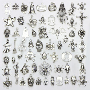 52Pcs//Set Bulk Lots Tibetan Silver Mix Charm 26 Letter A-Z Pendants Jewelry DIY