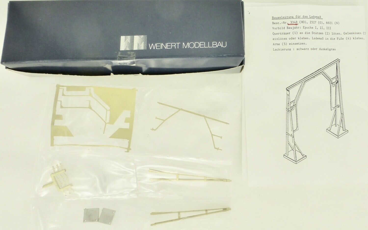 Weinert 3348 Loading Weight H0 Kit Ovp H0 1 87 Unbuilt Å