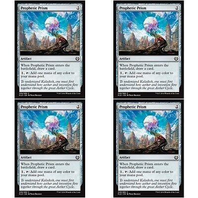 MTG Kaladesh NM Card x 4 Playset Prophetic Prism