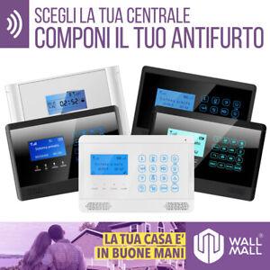 ANTIFURTO WIRELESS CASA ALLARME COMPLETO COMBINATORE GSM SMS WIFI APP INTERNET